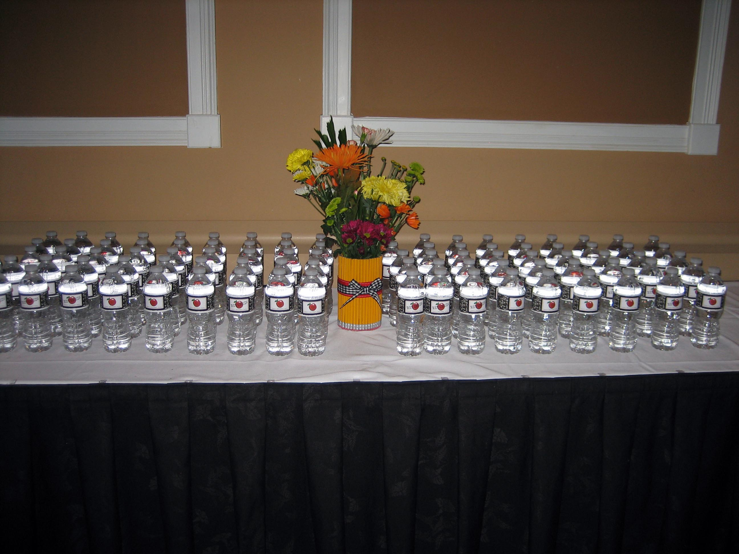 Wonderful Retirement Dinner Party Ideas Part - 10: Personalized Water Bottles