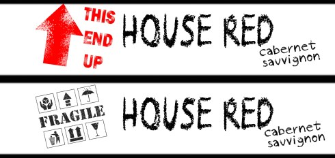 Housewarming Envelope Stickers WINE TAGS