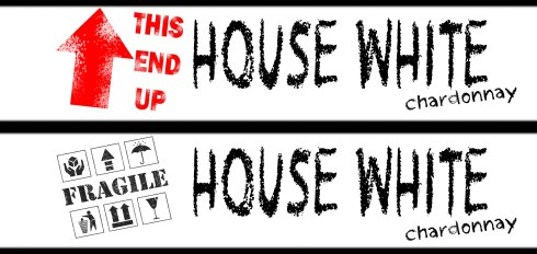 Housewarming Stickers WINE TAGS