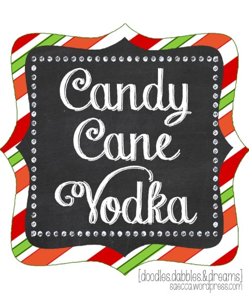 Candy Cane Vodka Label